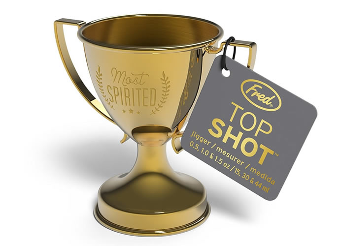 Fred and Friends Top Shot trophy style jigger