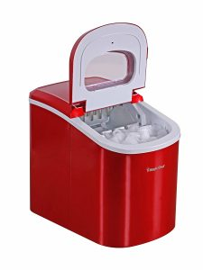 Magic Chef MCIM22R Portable Ice Maker in red