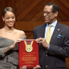Rihanna honored by Harvard for charity work
