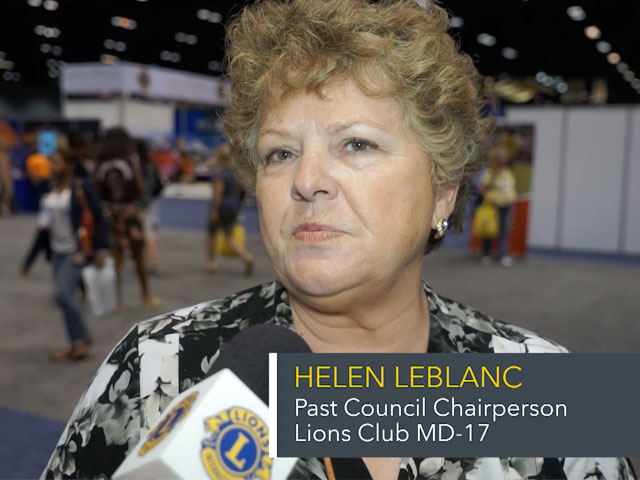 Helen LeBlanc speaking on Convention floor