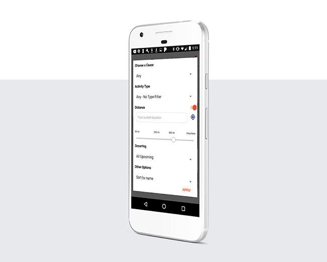 Filter för att hitta aktiviteter