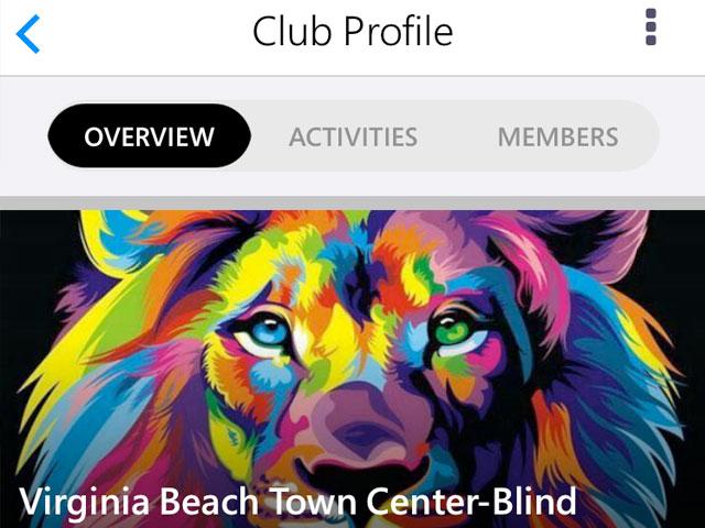 버지니아 비치타운 센터 - 시각장애인 클럽 프로필 페이지