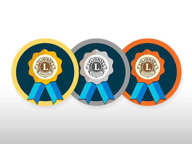 Badges MyLion or, argent et bronze