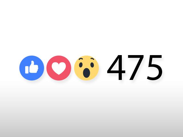 Ícones de curtir e amar no Facebook