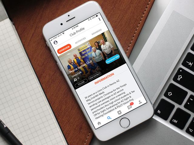 MyLionの「クラブのプロフィール概要」画面