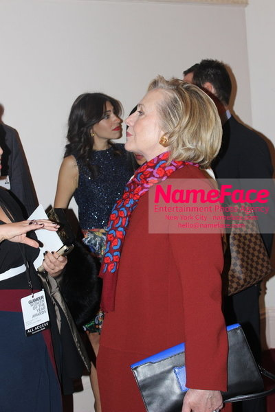 2014 Annual Glamour Women of the Year Awards Hillary Clinton - NameFace Photo Agency New York City - hello@nameface.com - nameface.com - Photo by