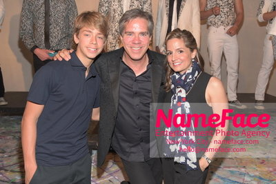 ARTISTIX Guests With Andy Hilfiger S/S 17 Mens Presentation Son of Andy Hilfiger, Andy Hilfiger and Kim Hilfiger - NameFace Photo Agency New York City - hello@nameface.com - nameface.com - Photo by Steve Eichner