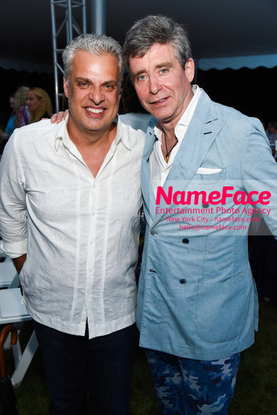 NY: 23rd Annual Watermill Center Summer Benefit & Auction Eric Ripert and Jay McInerney - NameFace Photo Agency New York City - hello@nameface.com - nameface.com - Photo by Steve Eichner