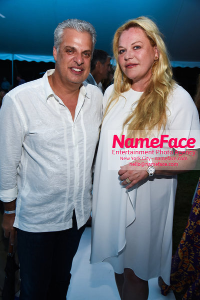 NY: 23rd Annual Watermill Center Summer Benefit & Auction Eric Ripert and Katharina Otto-Bernstein - NameFace Photo Agency New York City - hello@nameface.com - nameface.com - Photo by Steve Eichner