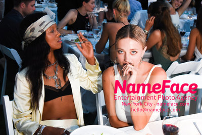 NY: 23rd Annual Watermill Center Summer Benefit & Auction Guest and Caroline Vreeland - NameFace Photo Agency New York City - hello@nameface.com - nameface.com - Photo by Steve Eichner