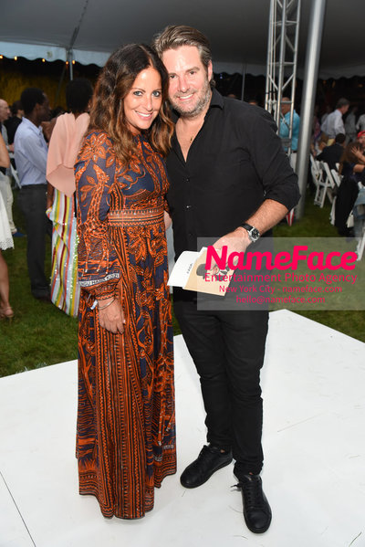NY: 23rd Annual Watermill Center Summer Benefit & Auction Jill Stuart and Guest - NameFace Photo Agency New York City - hello@nameface.com - nameface.com - Photo by Steve Eichner