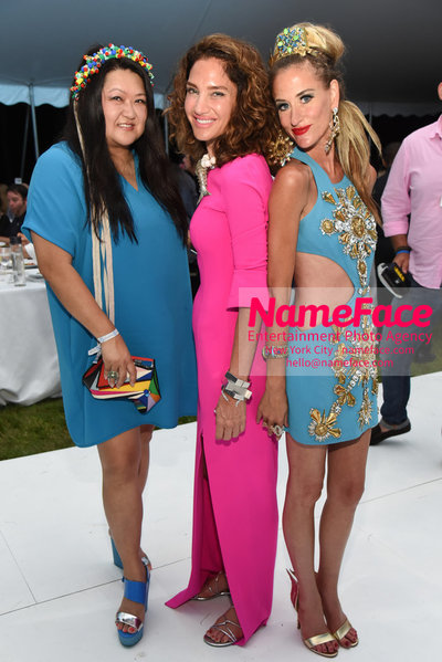 NY: 23rd Annual Watermill Center Summer Benefit & Auction Susan Shin, Guest and Stacy Engman - NameFace Photo Agency New York City - hello@nameface.com - nameface.com - Photo by Steve Eichner