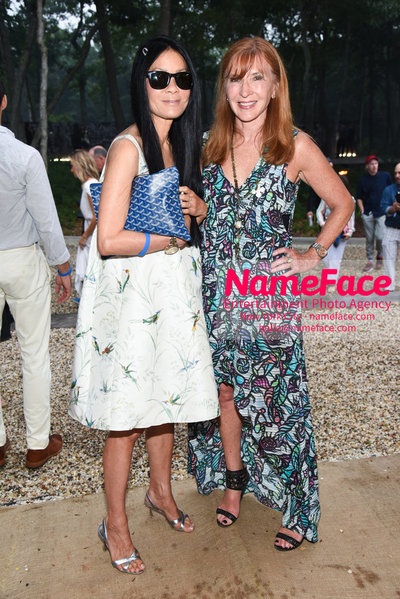 NY: 23rd Annual Watermill Center Summer Benefit & Auction Helen Lee Schifter and Nicole Miller - NameFace Photo Agency New York City - hello@nameface.com - nameface.com - Photo by Steve Eichner