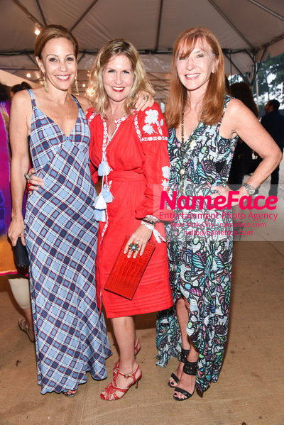 NY: 23rd Annual Watermill Center Summer Benefit & Auction Susan Cappa, Kim Vernon and Nicole Miller - NameFace Photo Agency New York City - hello@nameface.com - nameface.com - Photo by Steve Eichner