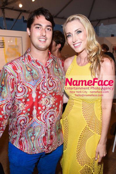 NY: 23rd Annual Watermill Center Summer Benefit & Auction Guest and Melanie Lazenby - NameFace Photo Agency New York City - hello@nameface.com - nameface.com - Photo by Steve Eichner
