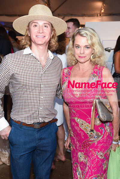 NY: 23rd Annual Watermill Center Summer Benefit & Auction Eric Javits and Debbie Bancroft - NameFace Photo Agency New York City - hello@nameface.com - nameface.com - Photo by Steve Eichner