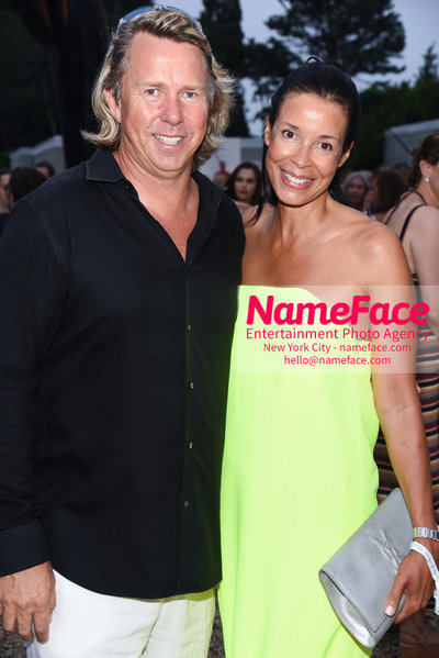 NY: 23rd Annual Watermill Center Summer Benefit & Auction Richard Evans and Kim Heirston Evans - NameFace Photo Agency New York City - hello@nameface.com - nameface.com - Photo by Steve Eichner