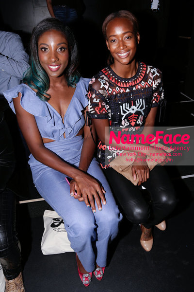 NY: Artistix Front Row -  New York Fashion Week Spring Summer 2017 Nia Ali and Brianna Rollins - NameFace Photo Agency New York City - hello@nameface.com - nameface.com - Photo by Steve Eichner