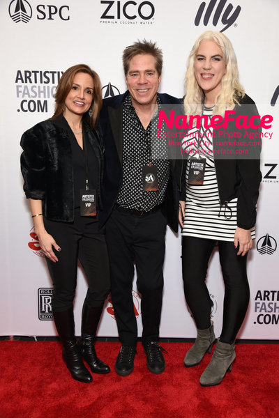 Artistix Fashion Show NYFW Greg Polisseni Kim Hilfiger, Andy Hilfiger and Daniela Kirsch - NameFace Photo Agency New York City - hello@nameface.com - nameface.com - Photo by Steve Eichner
