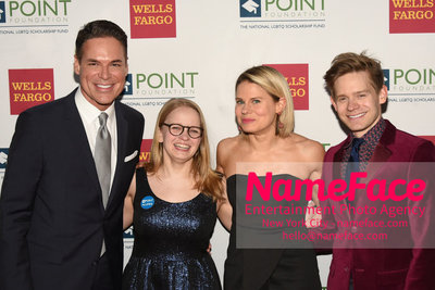 Point Foundation Hosts Annual Point Honors New York Gala Celebrating The Accomplishments Of LGBTQ Students Jorge, Guest, Celia Keenan-Bolger and Andrew Keenan-Bolger - NameFace Photo Agency New York City - hello@nameface.com - nameface.com - Photo by Daniela Kirsch