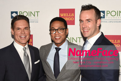 Point Foundation Hosts Annual Point Honors New York Gala Celebrating The Accomplishments Of LGBTQ Students Jorge Valencia, Don Lemon and Guest - NameFace Photo Agency New York City - hello@nameface.com - nameface.com - Photo by Daniela Kirsch