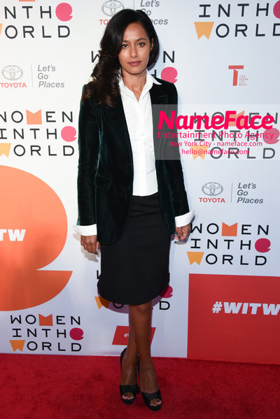 9th Annual Women in the World Summit, Arrivals Rula Jebreal - NameFace Photo Agency New York City - hello@nameface.com - nameface.com - Photo by Daniela Kirsch