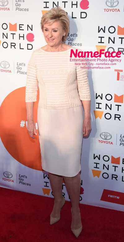 9th Annual Women in the World Summit, Arrivals Tina Brown - NameFace Photo Agency New York City - hello@nameface.com - nameface.com - Photo by Daniela Kirsch