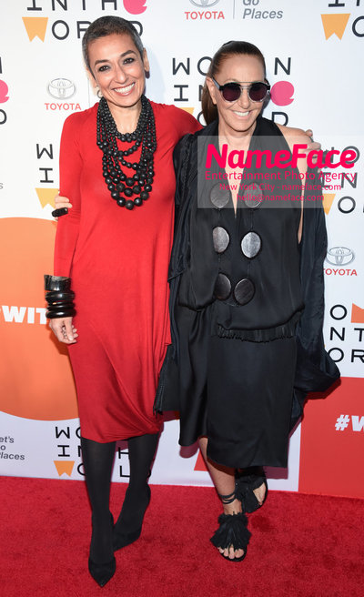 9th Annual Women in the World Summit, Arrivals Zainab Salbi and Donna Karan - NameFace Photo Agency New York City - hello@nameface.com - nameface.com - Photo by Daniela Kirsch