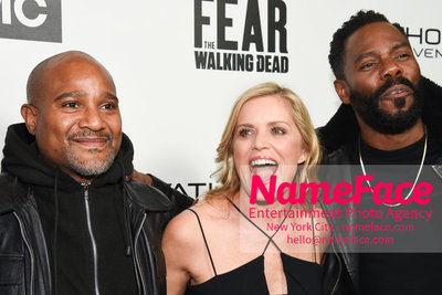 AMC Survival Sunday The Walking Dead / Fear the Walking Dead Seth Gilliam, Kim Dickens and Colman Domingo - NameFace Photo Agency New York City - hello@nameface.com - nameface.com - Photo by Daniela Kirsch