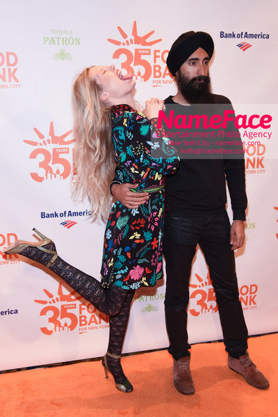 Food Bank For New York City's Can Do Awards Dinner - Arrivals Waris Ahluwalia and Theodora Richards - NameFace Photo Agency New York City - hello@nameface.com - nameface.com - Photo by Daniela Kirsch