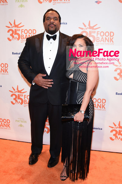 Food Bank For New York City's Can Do Awards Dinner - Arrivals Willy Colon (NY JETS) and Aikisha Holly Colon - NameFace Photo Agency New York City - hello@nameface.com - nameface.com - Photo by Daniela Kirsch