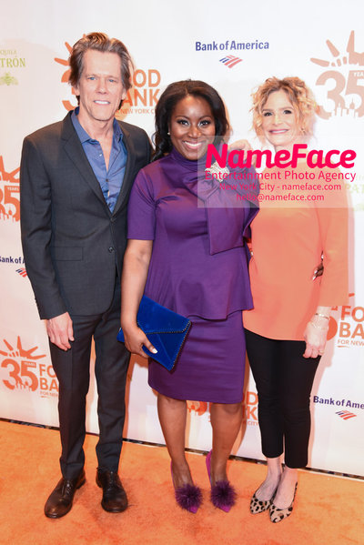 Food Bank For New York City's Can Do Awards Dinner - Arrivals Kevin Bacon, Margarette Purvis and Kyra Sedgwick - NameFace Photo Agency New York City - hello@nameface.com - nameface.com - Photo by Daniela Kirsch