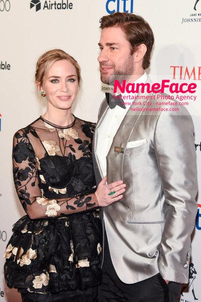 TIME 100 Gala 2018 Red Carpet Arrivals  Emily Blunt and John Krasinski - NameFace Photo Agency New York City - hello@nameface.com - nameface.com - Photo by Daniela Kirsch