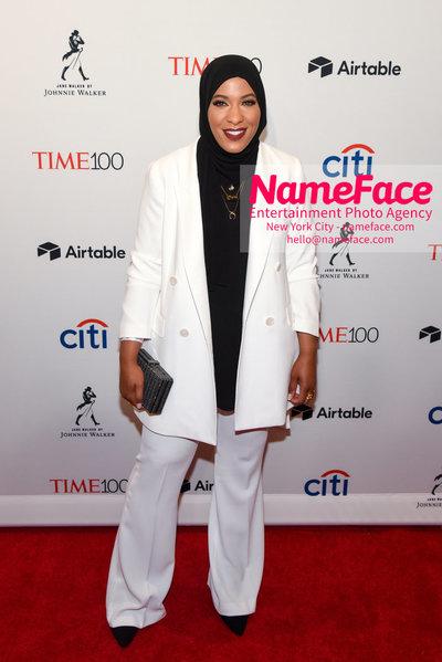 TIME 100 Gala 2018 Red Carpet Arrivals  Ibtihaj Muhammad - NameFace Photo Agency New York City - hello@nameface.com - nameface.com - Photo by Daniela Kirsch