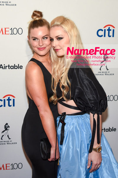 TIME 100 Gala 2018 Red Carpet Arrivals  Karin Kildow and Lindsey Vonn - NameFace Photo Agency New York City - hello@nameface.com - nameface.com - Photo by Daniela Kirsch