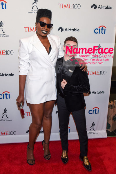 TIME 100 Gala 2018 Red Carpet Arrivals  Leslie Jones and Christian Siriano - NameFace Photo Agency New York City - hello@nameface.com - nameface.com - Photo by Daniela Kirsch