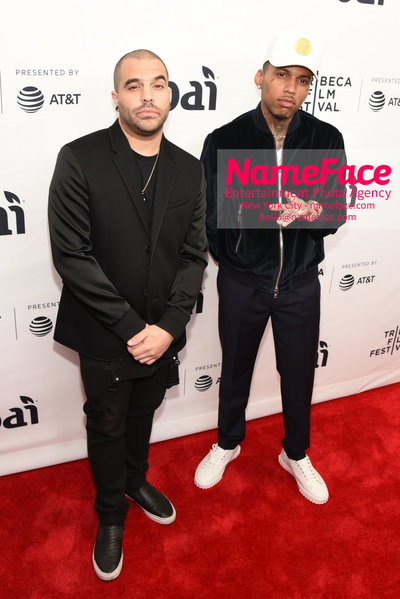 Unbanned: The Legend of AJ1 Movie Premiere at 17th Annual Tribeca Film Festival DJ Manny Fresco and Kid Ink - NameFace Photo Agency New York City - hello@nameface.com - nameface.com - Photo by Daniela Kirsch