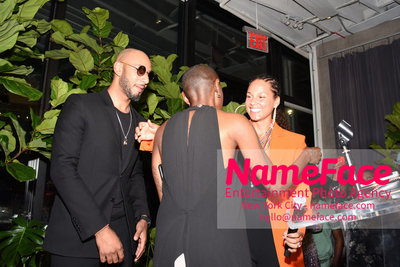2018 AMREF Artball Honoring Toyin Ojih Odutola with the Amref Rees Visionary Award - Raising funds for healthcare in Africa  Toyin Ojih Odutola, Swizz Beatz and Alicia Keys - NameFace Photo Agency New York City - hello@nameface.com - nameface.com - Photo by Daniela Kirsch