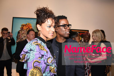 2018 AMREF Artball Honoring Toyin Ojih Odutola with the Amref Rees Visionary Award - Raising funds for healthcare in Africa  Megalyn Echikunwoke and Chris Rock - NameFace Photo Agency New York City - hello@nameface.com - nameface.com - Photo by Daniela Kirsch
