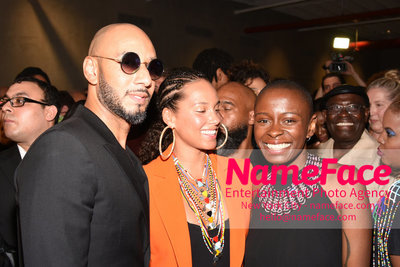 2018 AMREF Artball Honoring Toyin Ojih Odutola with the Amref Rees Visionary Award - Raising funds for healthcare in Africa  Swizz Beatz, Alicia Keys and Toyin Ojih Odutola - NameFace Photo Agency New York City - hello@nameface.com - nameface.com - Photo by Daniela Kirsch
