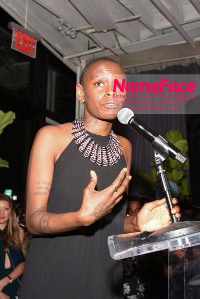 2018 AMREF Artball Honoring Toyin Ojih Odutola with the Amref Rees Visionary Award - Raising funds for healthcare in Africa  Toyin Ojih Odutola - NameFace Photo Agency New York City - hello@nameface.com - nameface.com - Photo by Daniela Kirsch