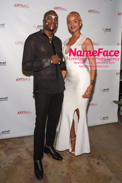 2018 AMREF Artball Honoring Toyin Ojih Odutola with the Amref Rees Visionary Award - Raising funds for healthcare in Africa  Young Paris and Guest - NameFace Photo Agency New York City - hello@nameface.com - nameface.com - Photo by Daniela Kirsch