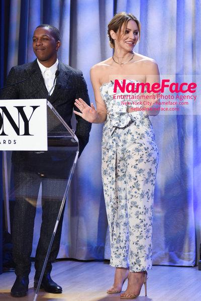 Tony Awards Nominations Announcements - 2018 Leslie Odom Jr and Katharine McPhee - NameFace Photo Agency New York City - hello@nameface.com - nameface.com - Photo by Daniela Kirsch