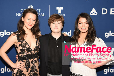 The GLAAD Rising Stars Luncheon at the 29th Annual GLAAD Media Awards Erin Kommor, Ellie Desautels and Aulii Cravalho - NameFace Photo Agency New York City - hello@nameface.com - nameface.com - Photo by Daniela Kirsch