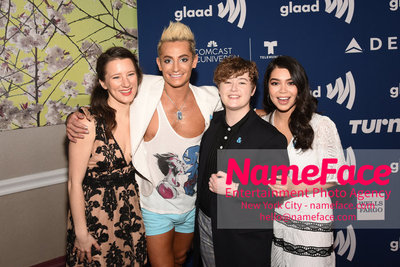 The GLAAD Rising Stars Luncheon at the 29th Annual GLAAD Media Awards Erin Kommor, Frankie Grande, Ellie Desautels and Aulii Cravalho - NameFace Photo Agency New York City - hello@nameface.com - nameface.com - Photo by Daniela Kirsch