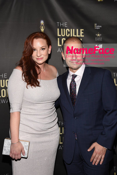 2018 Lucille Lortel Awards Arrivals Katy Sullivan and Guest - NameFace Photo Agency New York City - hello@nameface.com - nameface.com - Photo by Daniela Kirsch