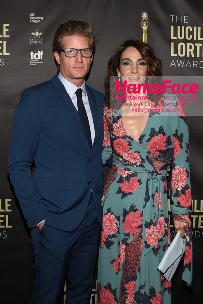 2018 Lucille Lortel Awards Arrivals Paul Sparks and Annie Parisse - NameFace Photo Agency New York City - hello@nameface.com - nameface.com - Photo by Daniela Kirsch