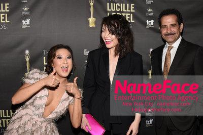 2018 Lucille Lortel Awards Arrivals Ashley Park, Katrina Lenk and Tony Shalhoub - NameFace Photo Agency New York City - hello@nameface.com - nameface.com - Photo by Daniela Kirsch
