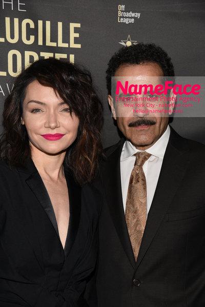 2018 Lucille Lortel Awards Arrivals Katrina Lenk and Tony Shalhoub - NameFace Photo Agency New York City - hello@nameface.com - nameface.com - Photo by Daniela Kirsch