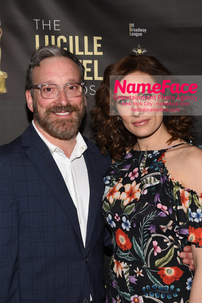 2018 Lucille Lortel Awards Arrivals Jeremy Shamos and Laura Benanti - NameFace Photo Agency New York City - hello@nameface.com - nameface.com - Photo by Daniela Kirsch